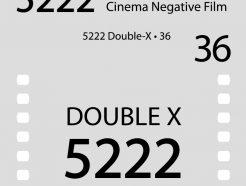 Bokkeh Double-X 5222 黑白電影底片 35mm 黑白負片