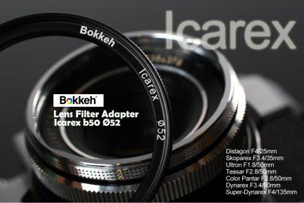 Icarex B50-52mm 濾鏡轉接環 Filter Adpate