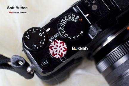 Bokkeh 紅色 雪花快門按鈕 風格快門鈕 金屬材質 12mm