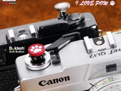Bokkeh 貓爪 快門按鈕 風格快門鈕 金屬 紅色 12mm