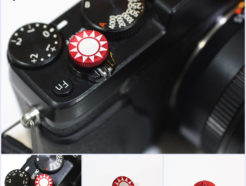 Bokkeh 紅色 太陽 風格快門鈕 金屬材質 凹面 12mm