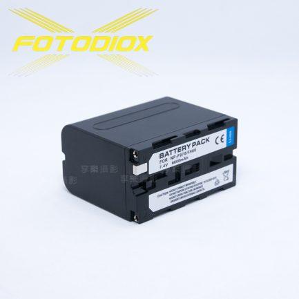 FOTODIOX NP-F950/F960/F970 攝影機/LED燈 專用鋰電池 (電量6600mAh)