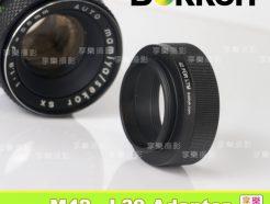 Bokkeh 無檔板黑色 M42 轉接 L39 轉接環 無限遠可合焦