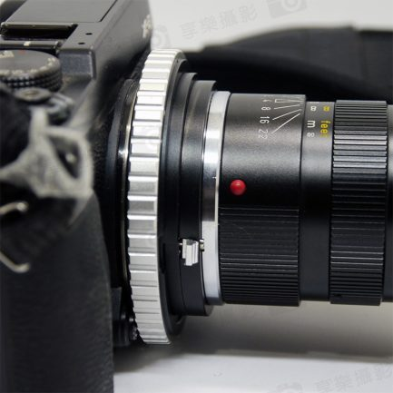 L.M.E.Helicoid對焦式Leica M鏡頭 - Fuji FX 相機轉接環(大環版) 可近攝微距