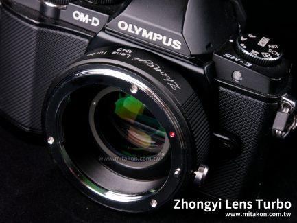 中一光學 Lens Turbo II 減焦環 2代 EOS EF-M4/3