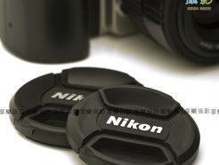 Nikon 中捏式 夾式 中間 快扣蓋 52mm-62mm 有防丟繩鏡頭