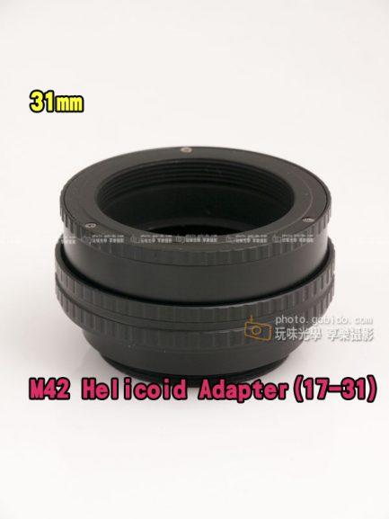 M42鏡頭轉M42 17mm-31mm helicoid tube對焦筒式轉接環