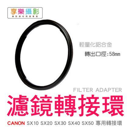 CANON SX40SX50 58mm 專用轉接環