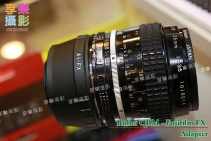 Nikon F D鏡 Ai 鏡頭 - Fuji X Pro FX 相機 轉接環