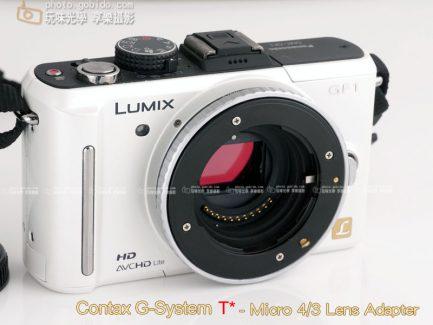 大環版 Contax G鏡 - Micro 4/3 M4/3 M43 相機轉接環 《黑色》