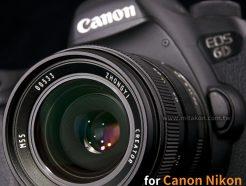 (客訂商品)中一光學Zhongyi Creator 35mm f2 Canon EF Mitakon 《黑/銀》