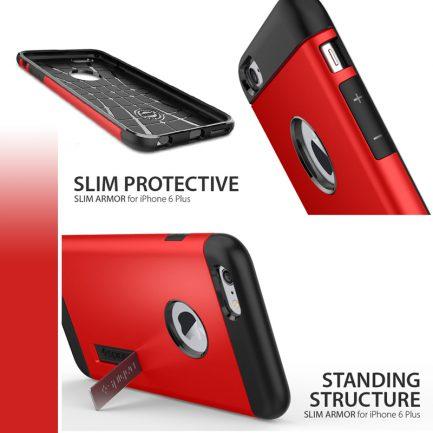 Armor 側立支架手機殼iPhone 6 4.7吋/5.5吋 多款顏色可選