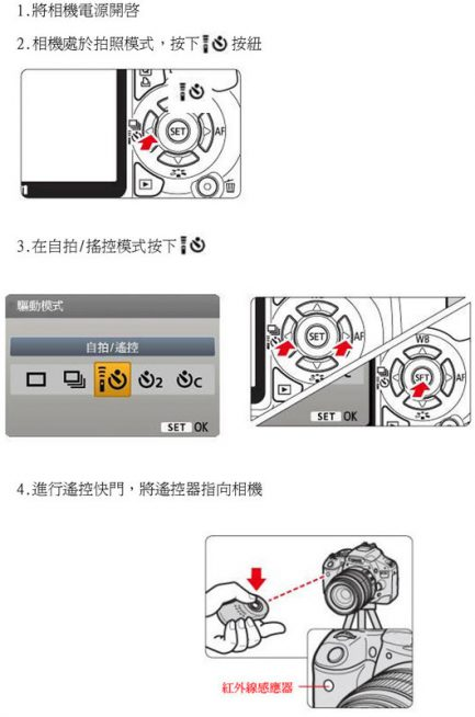 Canon 紅外線無線遙控器