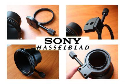 哈蘇Hasselblad HASSEL CF - SONY NEX 轉接環 付腳架環更穩 A7 A7r A72 A6300