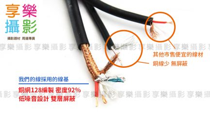 麥克風 XLR 卡農公母 延長連接線 3M 錄音專用 純銅鍍金插頭 OFC無氧銅線