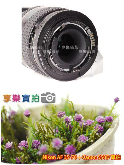 [含XEF合焦晶片] 黑色 Nikon G鏡 AF鏡頭 - Canon EOS EF 轉接環 可調光圈