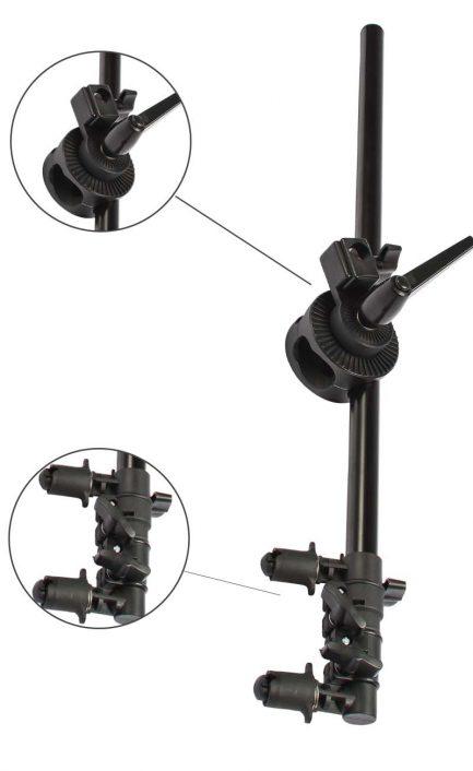 反光板支架 反光板夾臂 橫桿 單輪 可裝燈架
