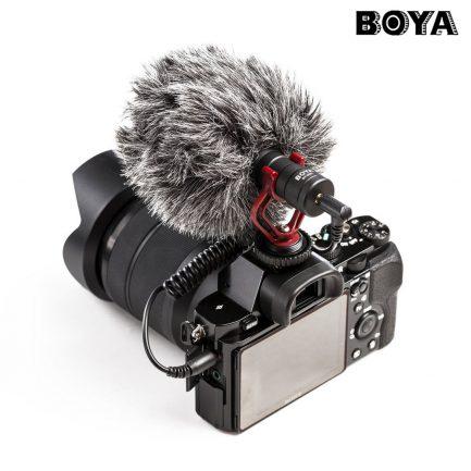(送小腳架)公司貨保一年 BOYA BY-MM1 通用型 電容式 高音質麥克風 心形指向 適用 手機/相機/電腦 附防風兔毛 iPhone DJI Osmo Canon Sony DSLR Cameras