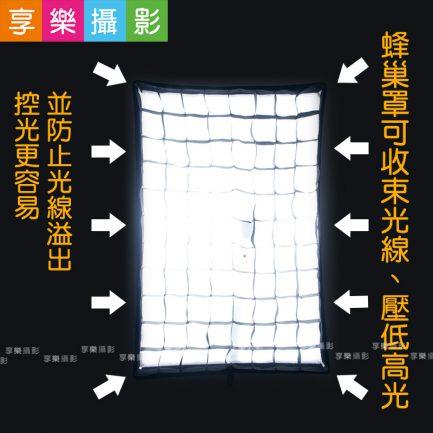 人像必用! FOTOFLEX 長條 蜂巢柔光箱 60x90 閃燈、棚燈皆可用 柔和光線
