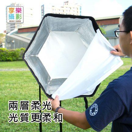 (客訂商品)60CM 快拆型 六角閃燈柔光罩 小閃燈專用 可手持 可直上燈架 Speedbox 參考SMDV
