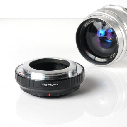Contax RF(內卡口版) Nikon S - 富士Fuji X FX 微單眼 轉接環 黑色