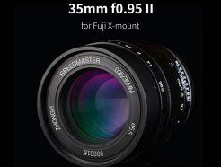 【享樂官網限定-買就送保護鏡】中一光學 SpeedMaster 35mm F0.95 2代 FujiFilm X-Mount/Canon EOS-M 微單眼鏡頭 F0.95超大光圈!