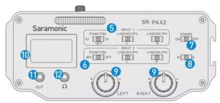 Saramonic SR-PAX2 卡儂Cannon口 (XLR) 3.5mm混音器
