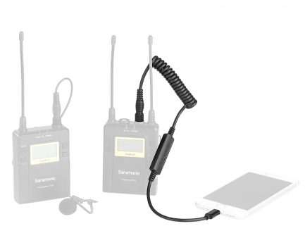 Saramonic SR-LC-C35 3.5mm 公頭 (TRS) 連接 Apple iPhone/iPad 認證 Lightning 2軌訊號轉換線