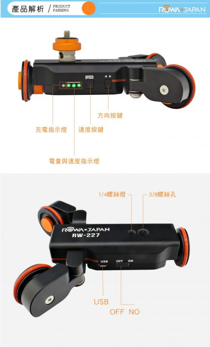 ROWA樂華 RW-227 電動軌道車 電動滑軌車 (可遙控)