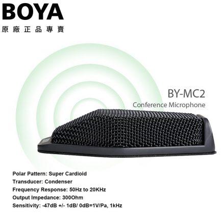 BOYA BY-MC2 USB 桌上型會議麥克風 網路直播 USB 降噪消迴音360度全向型6米直徑收音
