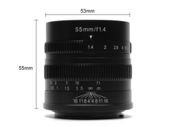 七工匠 55mm F1.4 for Fuji FX mount 黑色 微單鏡頭