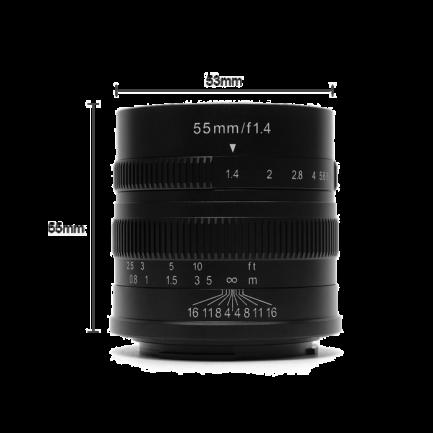 七工匠 55mm F1.4 for Fuji FX mount 黑色 微單鏡頭