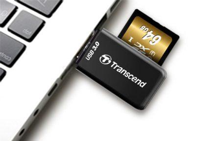 創見 Transcend F5 USB 3.0讀卡機 支援 SDXC UHS-I 白色
