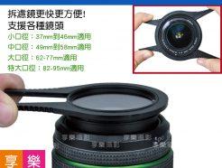 FotoFlex 濾鏡快拆手 扳手 濾鏡夾 拆鏡工具 拆鏡神器! 支援37mm到95mm口徑 2入