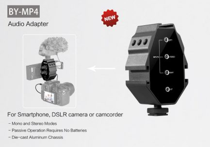 BOYA BY-MP4 3.5mm混音器 音頻轉接器 附手機相機輸出線 TRS TRRS 功能同AX100直立版
