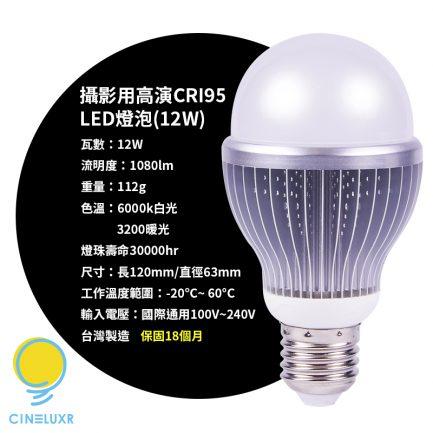 Cineluxr LED攝影燈4燈套餐 台灣製高演色LED燈泡 影棚燈 CRI95 無頻閃 補光燈 攝錄影最佳選擇