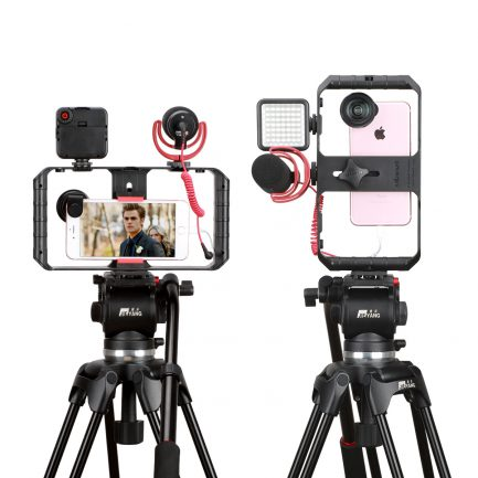 ulanzi U-Rig Pro 手機三熱靴座 錄影直播架手機支架/穩定架 含3個1/4吋螺絲孔 LED燈麥克風擴充架