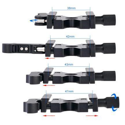 Fotoflex 扳扣快拆 專利快速拿取設計! Arca雲台快拆組 SL-50 SL50