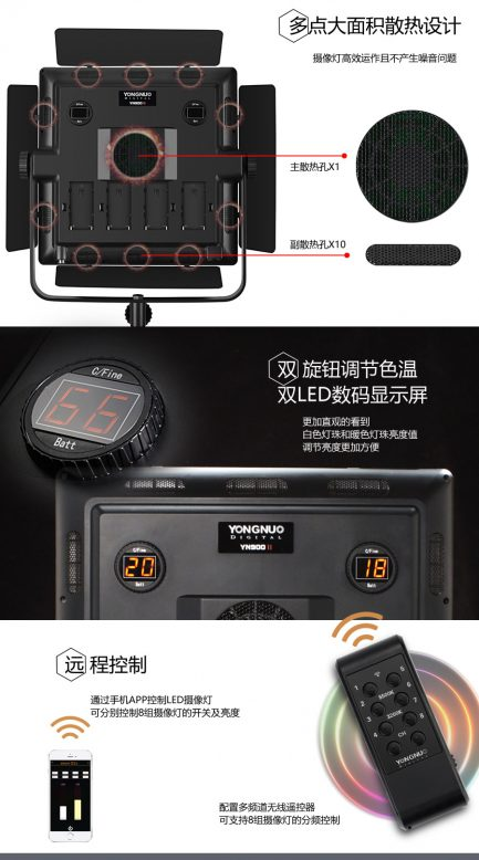 永諾 YN-900 II 2代大面積 機頂LED持續燈/攝影燈 可調色溫 YN900 微電影 錄影補光燈 夜拍