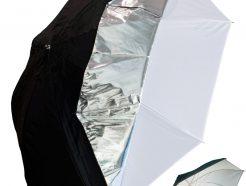 雙層傘 反射傘 + 透射傘/單層白色透射柔光傘 33吋84cm / 40吋102cm