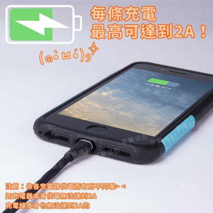 CZJ 高速三合一 Apple/安卓/TYPE-C USB充電線(鍍金接頭) 黑/白/藍/金 超長充電線 2A電力輸出