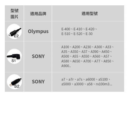 JYC快門連接線 Sony/Canon/Nikon/Panasonic/Olympus 各大廠牌快門連接線 連結線 捲捲線
