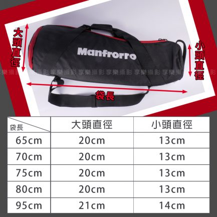 大雲台腳架包 燈架包/燈架袋 65/70/75/80/90cm 黑/紅黑 大小頭腳架袋 多種尺寸 可展開 拿取更方便