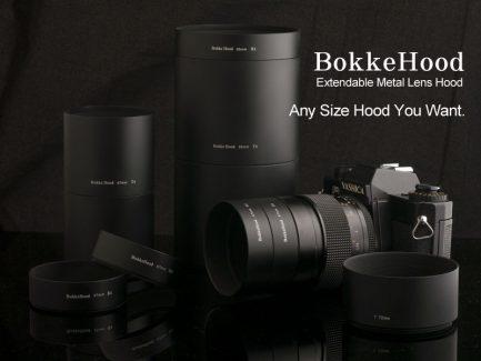 金屬遮光罩S Bokkehood 長短可延伸加接 口徑52mm/長2cm