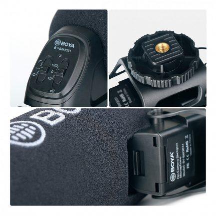 BOYA BY-BM3031 專業槍型麥克風 超心型指向 三段增減益 採訪/錄影/直播 適用相機 電腦 攝影機