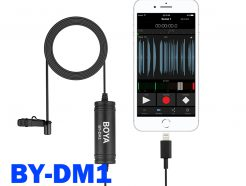 BOYA BY-DM1 IPHONE麥克風 數位領夾式麥克風 蘋果手機 APPLE lightning Phone/iPad/iPod touch