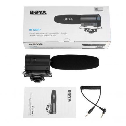BOYA BY-DMR7 槍型麥克風 立體聲 超心形指向 可插micro SD卡 監聽孔