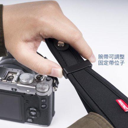 CADEN 快拆式減壓手腕繩/手腕帶 加厚潛水布 真皮墊 快拆快扣設計 減壓 防丟 防掉 相機 微單