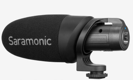 Saramonic CamMic 輕量化相機指向麥克風適用於數碼單反相機,無反光鏡和攝像機或智能手機和平板電腦