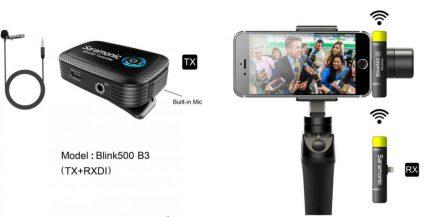 Saramonic Blink500 B3(TX+RXDi) iOS系統 2.4G 無線麥克風系統 1對1 自動配對 自動跳頻